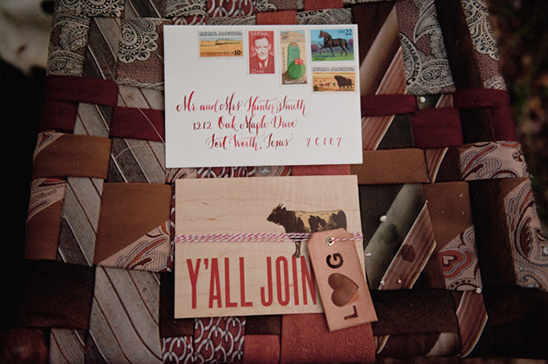 Ranch Style Wedding Invite