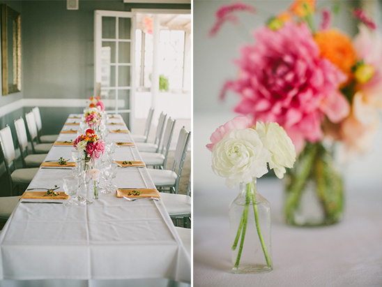 peach and pink wedding table decor ideas