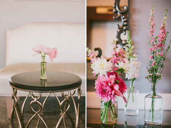 pink wedding floral ideas