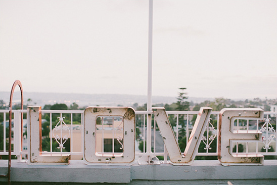 love letters wedding sign