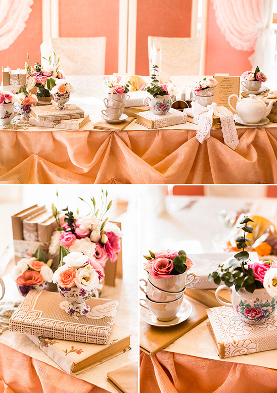 peach vintage wedding ideas