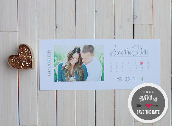 2014 Free Calendar Save The Dates