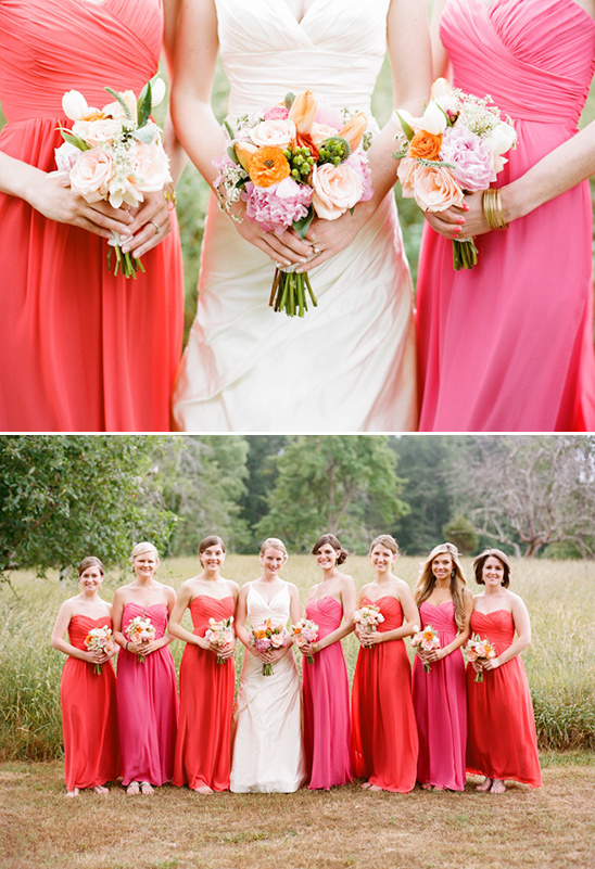 pink and red bridesmaid