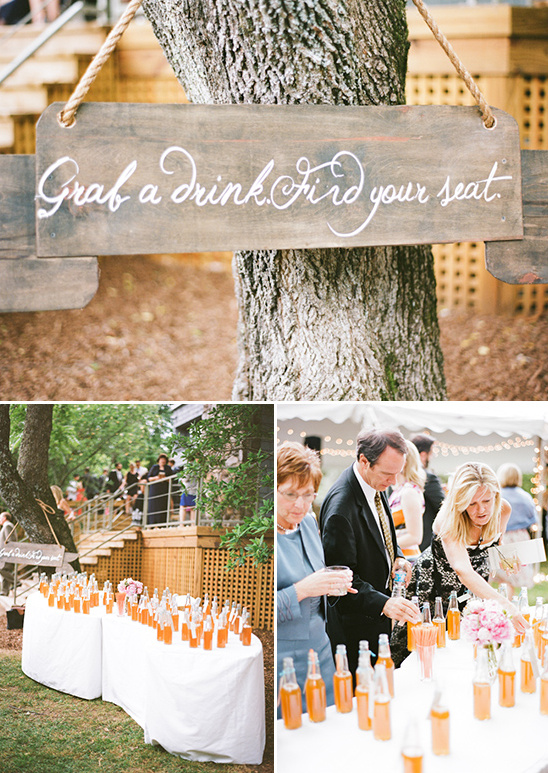 orange soda wedding favors