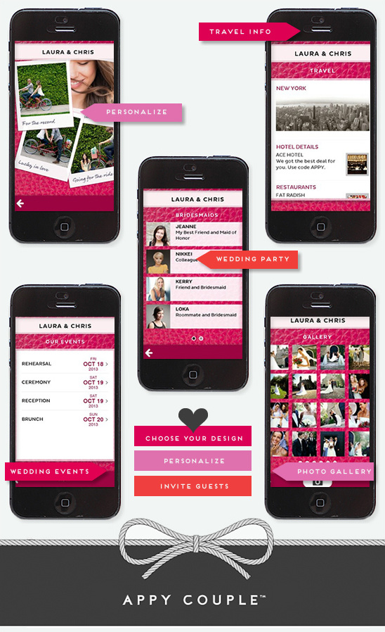 Stylish And Customized Wedding App From Appy Couple