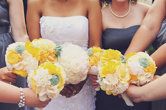 cloth wedding bouquets