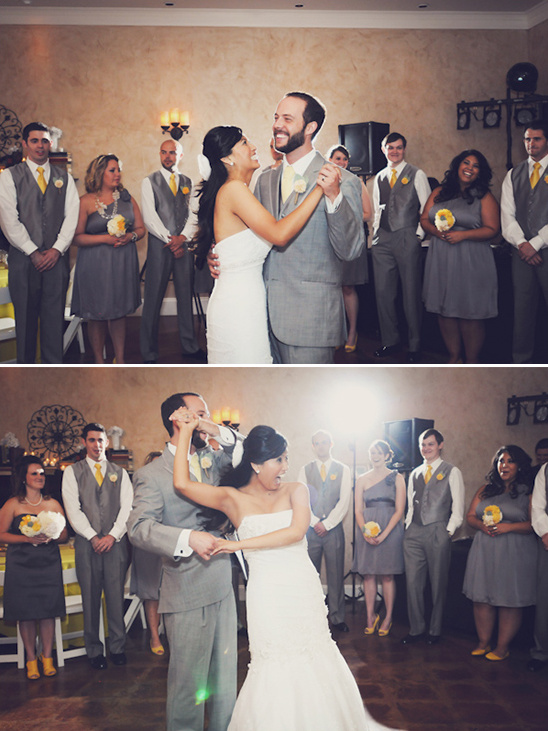 Fun Filled Yellow And Gray Wedding