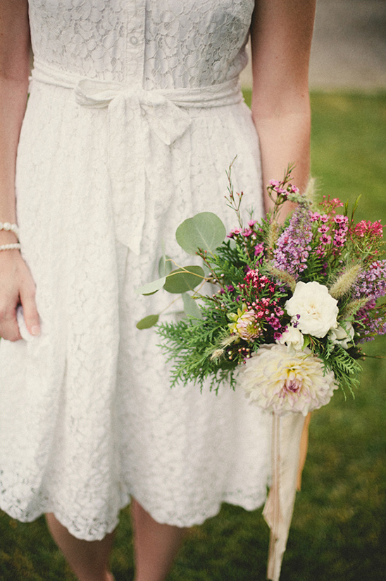 wildflower wedding bouquet from Flower Afternoon