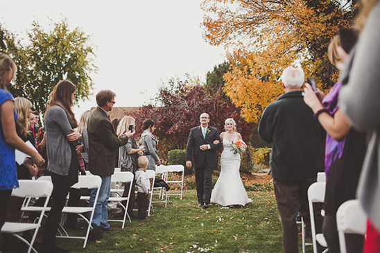 father daughter walking down aisle