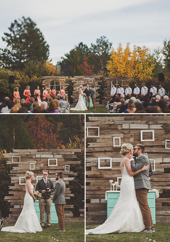 backyard fall wedding