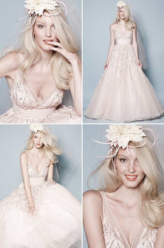 pink watters wedding gown