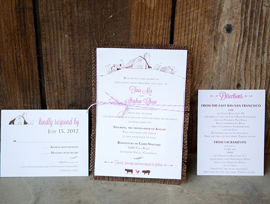 barn house wedding invite