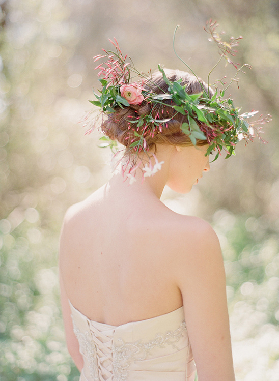 floral wedding halo