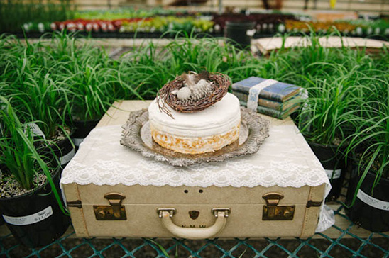 use suitcase for cake topper