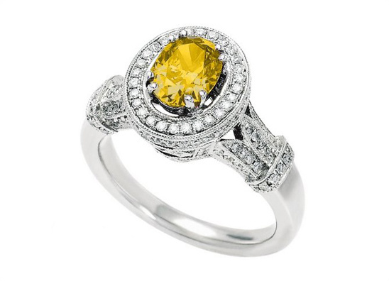 Ladies Canary Sun Ring
