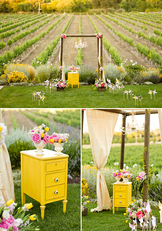 vineyard ceremony decor ideas