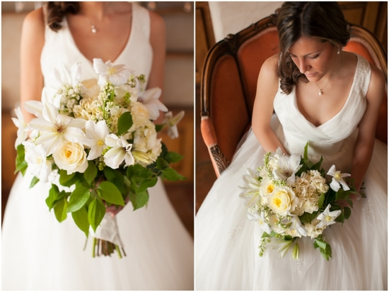 Large white bridal floral bouquet by Three Leaf Floral, Cat Mayer Studio of Grand Junction, Colorado
