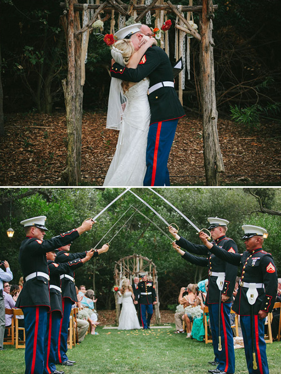 outdoor military wedding