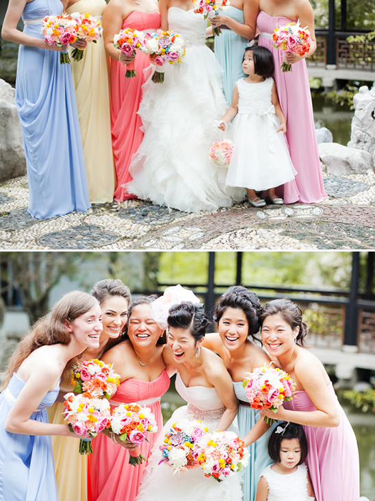 mismatched bridesmaid dresses from Bari Jay Bridemaids
