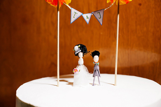 handmade wedding cake topper
