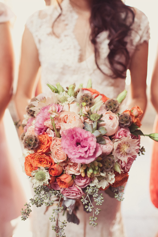 pink and peach bouquet