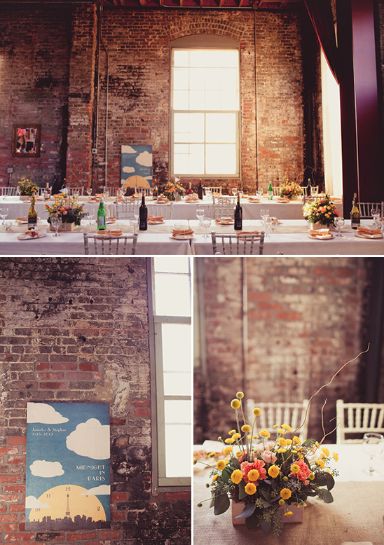 Industrial Wedding With Pink And Peach Accents