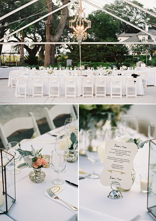 outdoor elegant wedding reception
