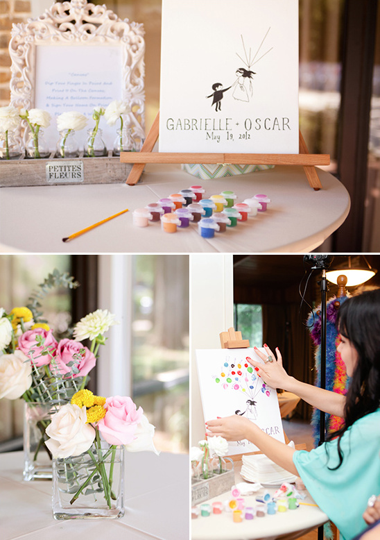 painted guest book
