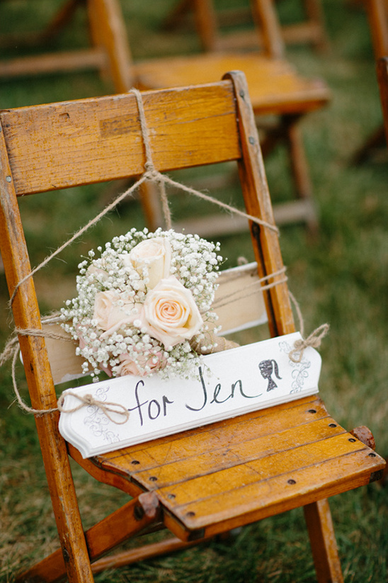remberance chair at wedding