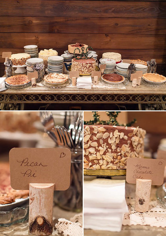 dessert table with pies and cakes from Emporium Pies