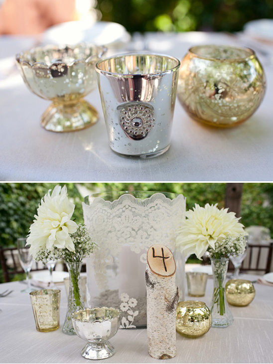 mecury and lace wedding ideas