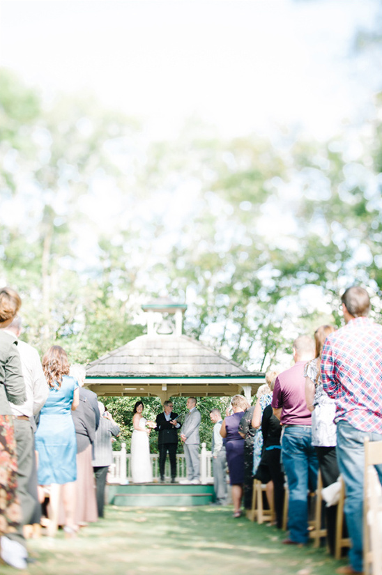 outdoor wedding ceremony at Minnetonka Orchards