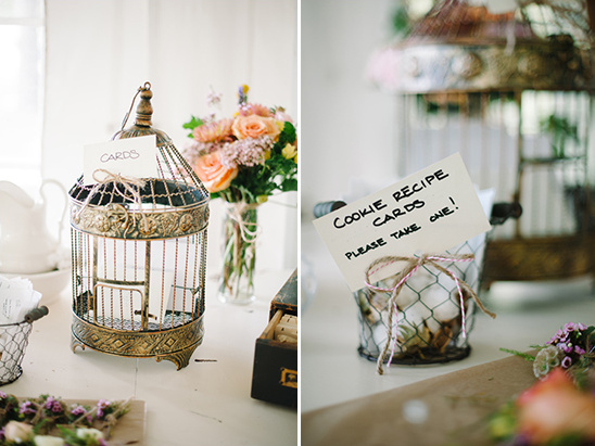 bird cage used for cards