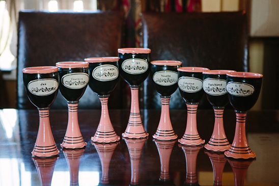 pink bridesmaid chalices