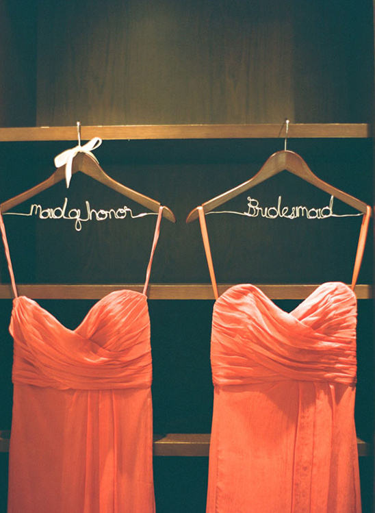 bridesmaid and maid of honor hangers