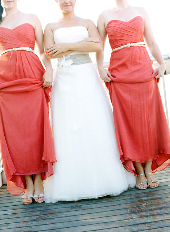 bridesmaids in belts