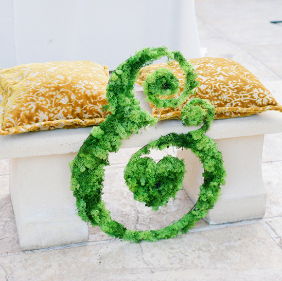 giant green ampersand