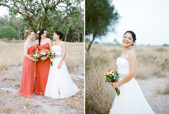 orange bridesmaid ideas