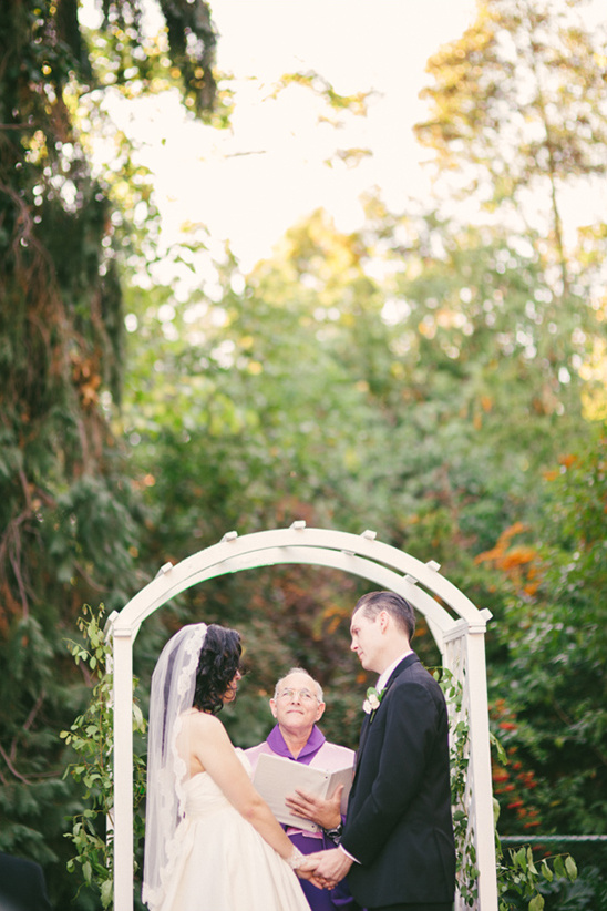backyard wedding ceremony at The Old Homestead