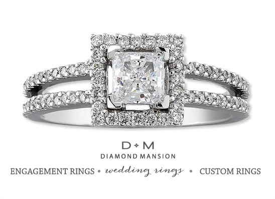 Diamond Mansion Wedding Rings