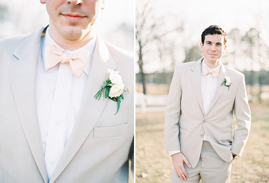 soft and romantic groom looks by Charleston Tuxedo