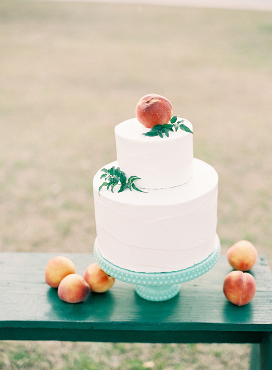peach wedding cake baked with love by Ally & Elloise