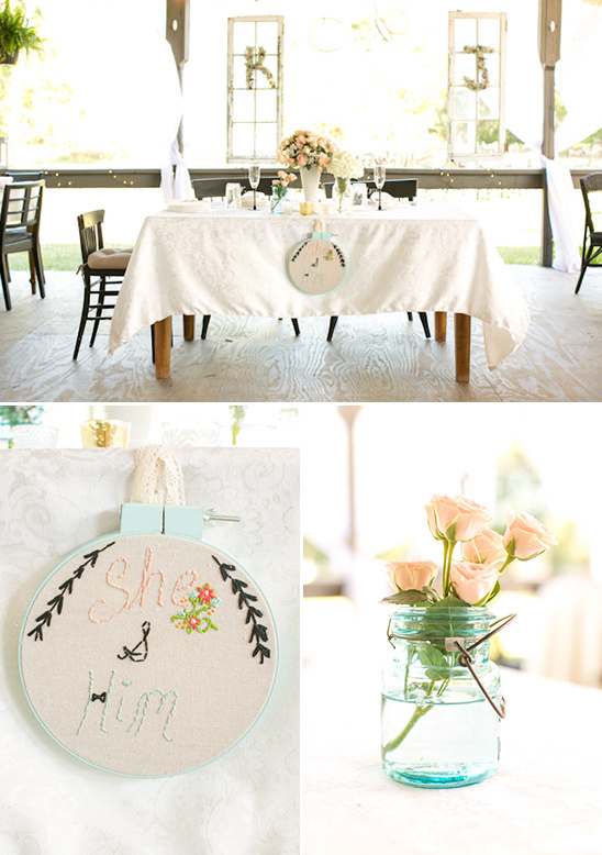 sweet heart wedding table ideas