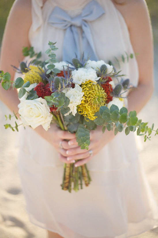 wild flower wedding bouquet by Embellished Blooms
