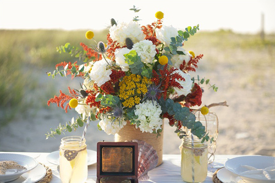 wildflower wedding arrangment by Embellished Blooms