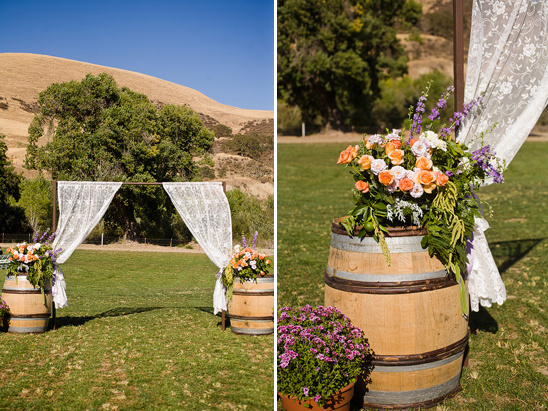 Simple Outdoor Ceremony Decorations: Rustic DIY Backyard Wedding