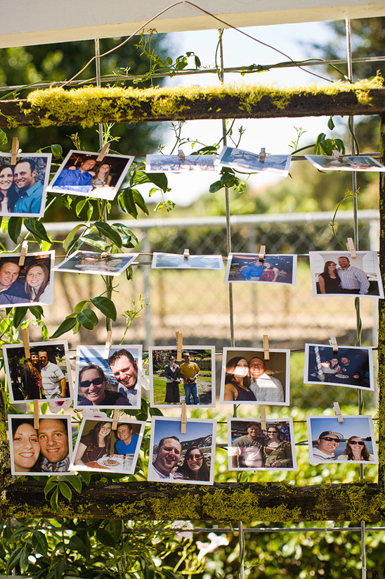 simple outdoor photo display