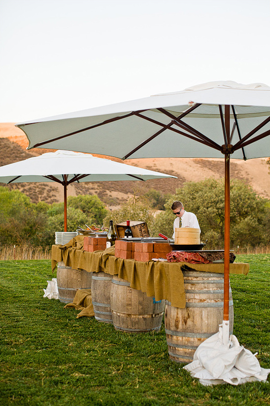 rustic outdoor buffet catered by The Inn Tres Pinos