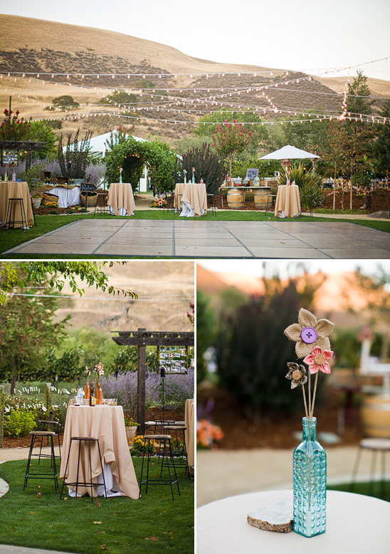 Outdoor Dance Floor And Tail Table Ideas