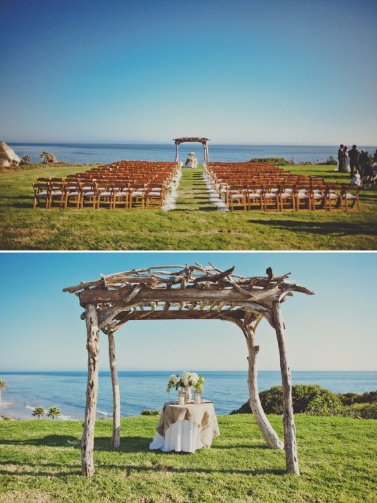 Outdoor Coastal Wedding Ceremony Decor